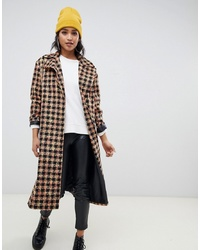 Manteau bouclé à carreaux multicolore ASOS DESIGN