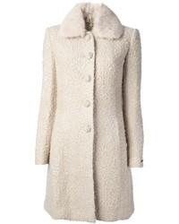 Manteau bouclé blanc