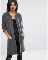 Manteau bouclé gris foncé Asos