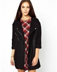 Manteau bouclé noir Glamorous