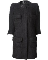 Manteau bouclé noir Smythe