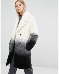 Manteau bouclé texturé beige