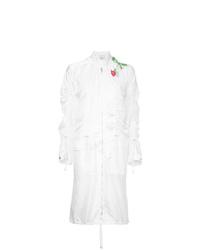 Manteau brodé blanc