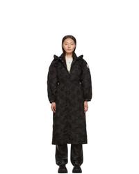 Manteau brodé noir Moncler Genius