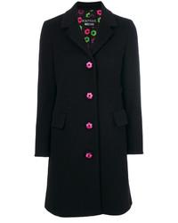 Manteau brodé noir Moschino