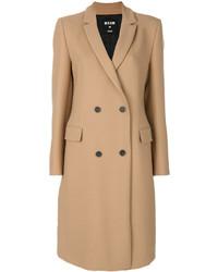Manteau brun clair MSGM