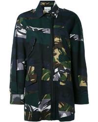 Manteau camouflage bleu marine Kenzo