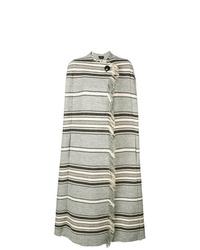 Manteau cape à rayures horizontales gris Isabel Marant