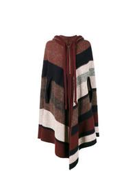 Manteau cape à rayures horizontales multicolore Chloé