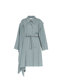 Manteau cape bleu clair