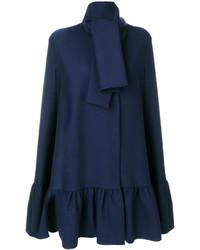 Manteau cape bleu marine MSGM