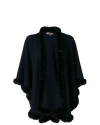 Manteau cape bleu marine N.Peal