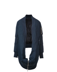 Manteau cape bleu marine Unravel Project