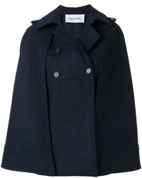 Manteau cape bleu marine Valentino