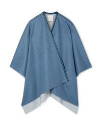 Manteau cape bleu Agnona