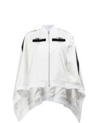 Manteau cape brodé blanc et noir Anrealage