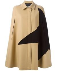 Manteau cape brun clair MSGM