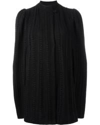 Manteau cape en tricot noir Alexander McQueen