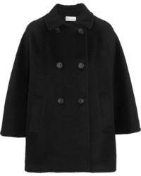 Manteau cape en tricot noir RED Valentino