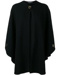 Manteau cape en tricot noir Salvatore Ferragamo