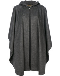 Manteau cape gris foncé Saint Laurent