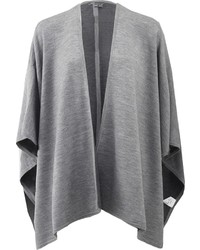 Manteau cape gris