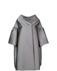 Manteau cape gris Alberta Ferretti