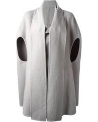 Manteau cape gris Rick Owens