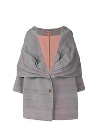 Manteau cape gris Romeo Gigli Vintage