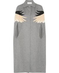 Manteau cape gris Valentino