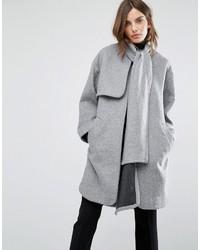 Manteau cape gris Warehouse