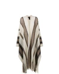 Manteau cape imprimé beige Isabel Marant