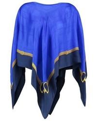 Manteau cape imprimé bleu Ralph Lauren