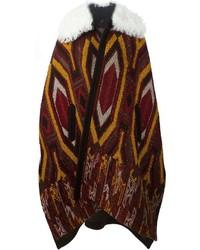 Manteau cape imprimé bordeaux Chloé