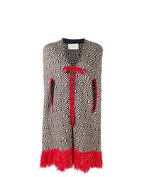 Manteau cape imprimé gris Gucci