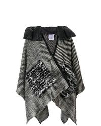 Manteau cape imprimé gris Moncler