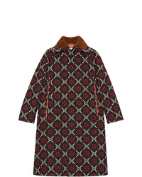 Manteau cape imprimé multicolore Gucci