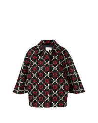 Manteau cape imprimé multicolore Gucci