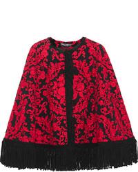 Manteau cape imprimé rouge Dolce & Gabbana