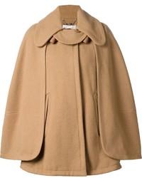Manteau cape marron clair Chloé