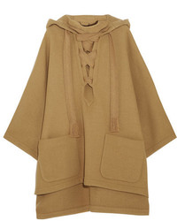 Manteau cape marron clair Chloé