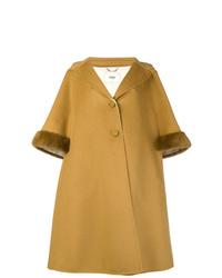 Manteau cape marron clair Fendi