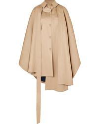 Manteau cape marron clair Loewe