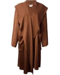 Manteau cape marron