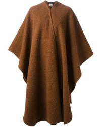 Manteau cape marron Salvatore Ferragamo