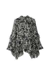 Manteau cape noir et blanc Dolce & Gabbana