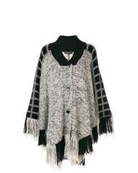 Manteau cape noir et blanc Etro