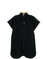 Manteau cape noir Burberry