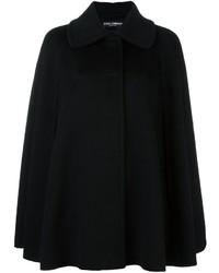 Manteau cape noir Dolce & Gabbana
