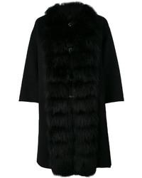 Manteau cape noir Ermanno Scervino